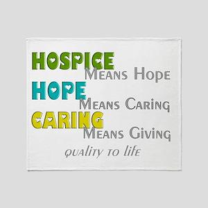 Hospice 2013 hope green blue Throw Blanket