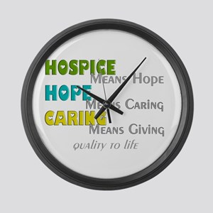 Hospice 2013 hope green blue Large Wall Clock