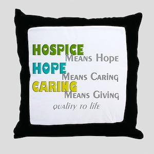 Hospice 2013 hope green blue Throw Pillow