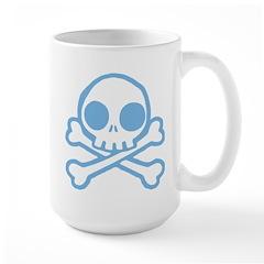 Cute Blue Skull Large Mug