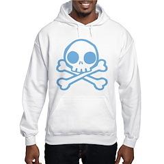 Cute Blue Skull Hooded Sweatshirt
