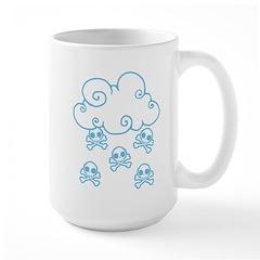 Cute Skull Raincloud Large Mug