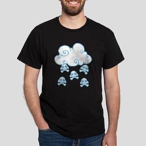 Cute Skull Raincloud Dark T-Shirt