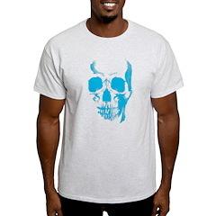 Blue Skull Face Light T-Shirt