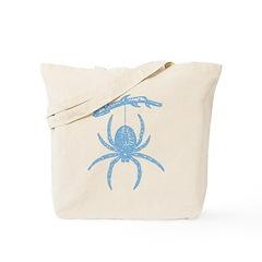 Blue Spider Tote Bag