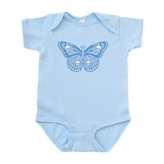 Blue Skull Butterfly Infant Bodysuit