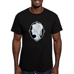 Pretty Skull Cameo Men's Fitted T-Shirt (dark)