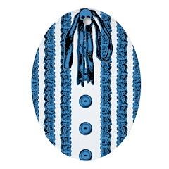 Faux Lace Front Ornament (Oval)