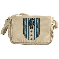 Faux Lace Front Messenger Bag