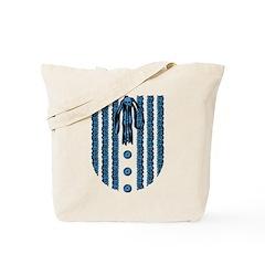 Faux Lace Front Tote Bag