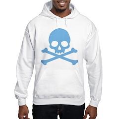Blue Skull And Crossbones Hooded Sweatshirt