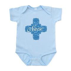 Lacy Blue Nurse Cross Infant Bodysuit