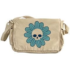 Blue Gothflower Messenger Bag