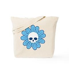 Blue Gothflower Tote Bag