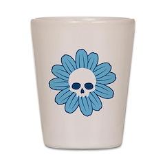 Blue Gothflower Shot Glass