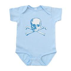 Classic Skull And Crossbones Blue Infant Bodysuit