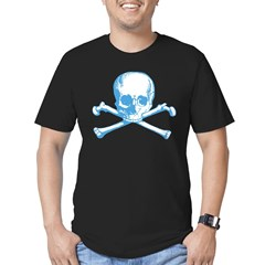 Classic Skull And Crossbones Blue Men's Fitted T-S