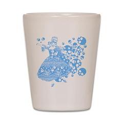 Blue Skull Dancer Shot Glass