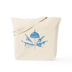 Blue Parasols Tote Bag