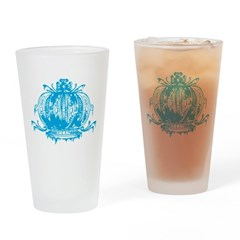 Blue Gothic Crown Drinking Glass