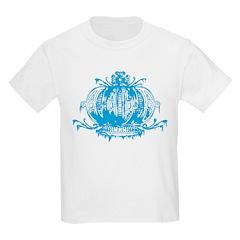 Blue Gothic Crown Kids Light T-Shirt