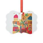 Jerusalem City Colorful Art Picture Ornament