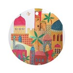 Jerusalem City Colorful Art Ornament (Round)