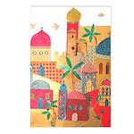Jerusalem City Colorful Art Postcards (Package of