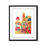 Jerusalem City Colorful Art Framed Panel Print
