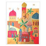 Jerusalem City Colorful Art Small Poster