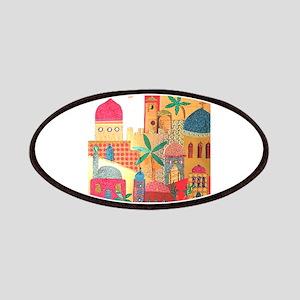 Jerusalem City Colorful Art Patches