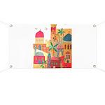 Jerusalem City Colorful Art Banner