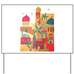 Jerusalem City Colorful Art Yard Sign