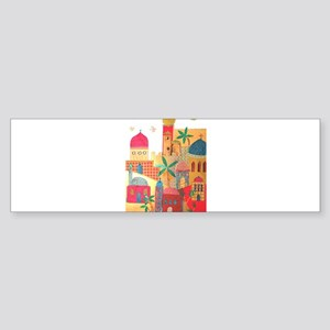 Jerusalem City Colorful Art Sticker (Bumper)