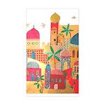 Jerusalem City Colorful Art Sticker (Rectangle)
