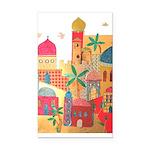 Jerusalem City Colorful Art Rectangle Car Magnet