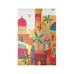 Jerusalem City Colorful Art Rectangle Magnet (10 p