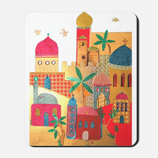 Jerusalem City Colorful Art Mousepad