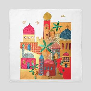 Jerusalem City Colorful Art Queen Duvet