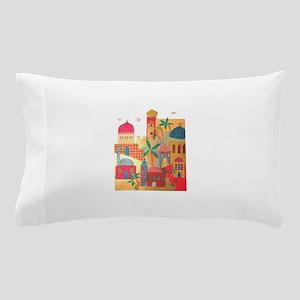 Jerusalem City Colorful Art Pillow Case