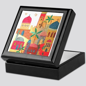 Jerusalem City Colorful Art Keepsake Box
