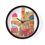 Jerusalem City Colorful Art Wall Clock