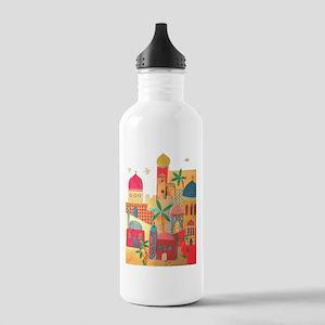 Jerusalem City Colorful Art Stainless Water Bottle