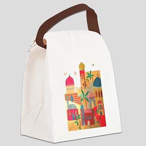 Jerusalem City Colorful Art Canvas Lunch Bag