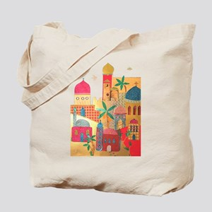 Jerusalem City Colorful Art Tote Bag