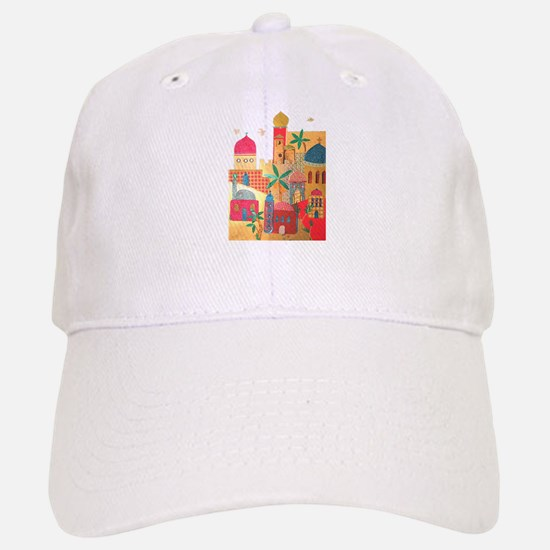 Jerusalem City Colorful Art Baseball Baseball Cap