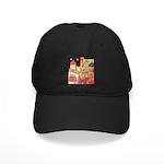Jerusalem City Colorful Art Black Cap