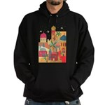 Jerusalem City Colorful Art Hoodie (dark)