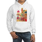 Jerusalem City Colorful Art Hooded Sweatshirt