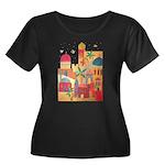 Jerusalem City Colorful Art Women's Plus Size Scoo